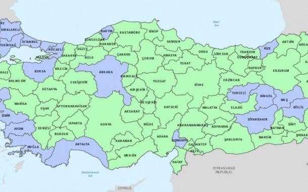 لیست شهرهای ممنوعه برای پناهجویان تازه وارد در ترکیه