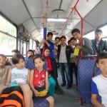 روز اول کورس شنا با 60 کودک پناهنده افغان
